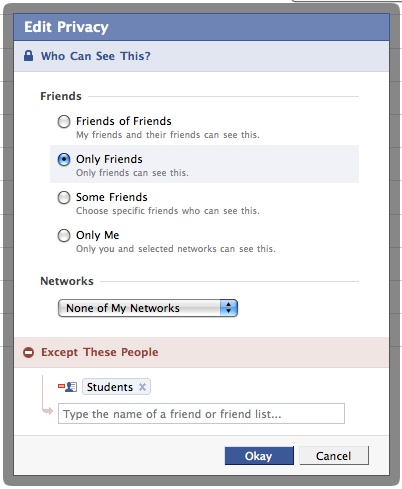how to restrict people to see my photos in facebook